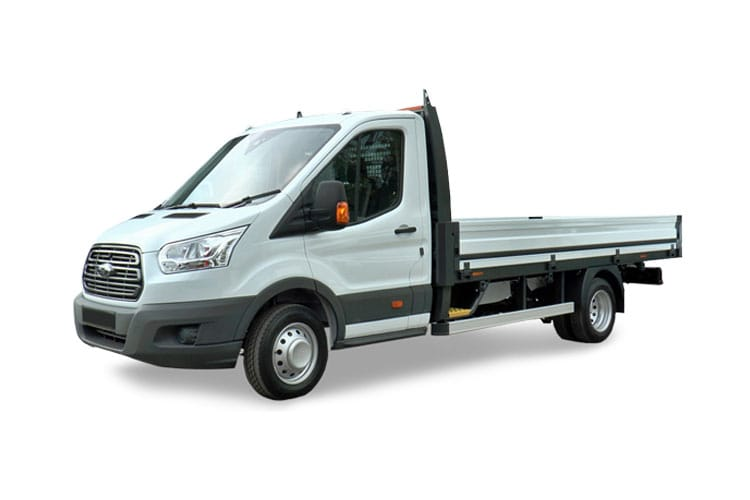Ford Transit 350 L2 AWD 2.0 EcoBlue 4WD 130PS Leader Premium Dropside Manual [Start Stop] front view