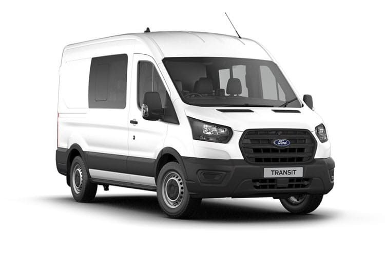Ford Transit 350 L3 2.0 EcoBlue FWD 130PS Leader Crew Van Medium Roof Manual [Start Stop] [DCiV] front view